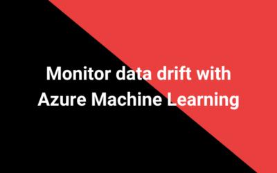Monitor data drift with Azure Machine Learning