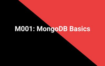 M001: MongoDB Basics
