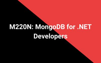 M220N: MongoDB for .NET Developers