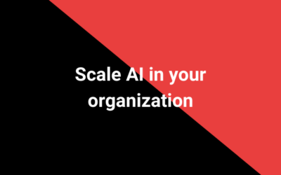 Scale AI in your organization
