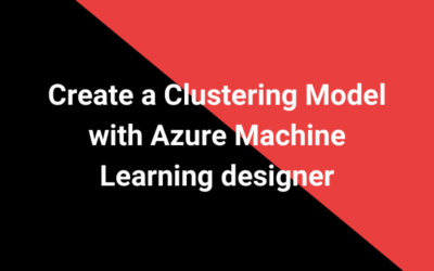 Create a Clustering Model with Azure Machine Learning designer