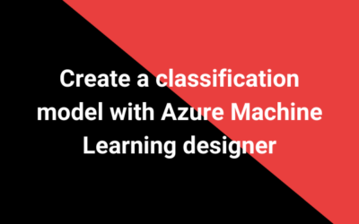 Create a classification model with Azure Machine Learning designer