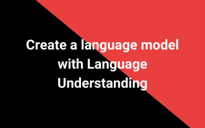 Create a language model with Language Understanding