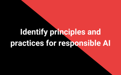 Identify principles and practices for responsible AI