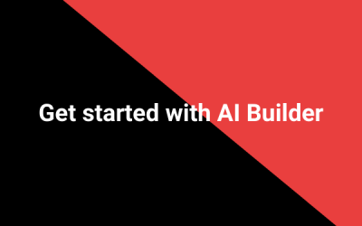 Get started with AI Builder